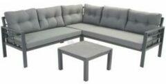 Antraciet-grijze SenS-Line Elba Aluminium Loungeset | met Koffietafel