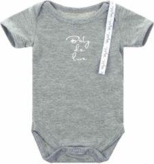 Baby de Luxe Rompertje k/m grijs 6-9 mnd