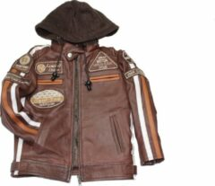 URBAN 5884® Fifty Eight Kinderjas Unisex Bruin Maat 98