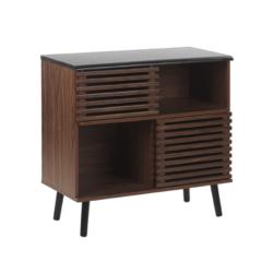 Beliani PERTH - Sideboard - Donkere houtkleur - MDF