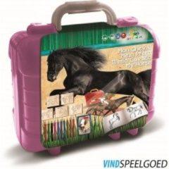 Multiprint Paarden kleurset koffer 81-delig 19 x 11 mm