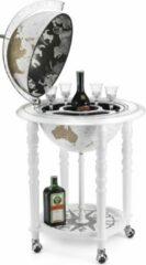 Bruine Zoffoli BarGlobe   Drankbar wereldbol   Elegance bar globe 40 white