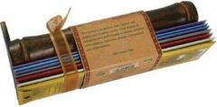 Prabhuji's Gifts Wierook geschenkpakket 'Chakra' (7 pakjes), inclusief houder van mangohout