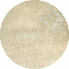 Flooo Rond Vintage vloerkleed - Grunge - Tapijten Woonkamer - Cappuccino - 110 ø