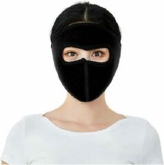 Faas Commerce Ski Masker - Motor Gezichtsmasker - Bivakmuts - Mondkapje - Muts Skiën - Zwart - heren en dames