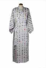 Witte Merkloos / Sans marque ORIGINELE JAPANSE YUKATA MET CHARACTER DESSIN (MAAT ZIE PRODUCTBESCHRIJVING !!) DONGDONG Unisex Nachtmode kimono Maat One Size