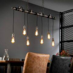 Zilveren Easy Furn Hanglamp Bowie - 7 Lichts