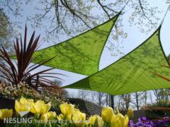 Nesling Coolfit schaduwdoek driehoek lime groen - 5.0 x 5.0 x 5.0 meter