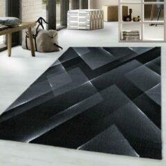 COSTA Impression Pera Design Laagpolig Vloerkleed Zwart- 80x250 CM