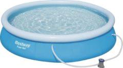 Blauwe Bestway Zwembad Marin fast set rond 457 - 84cm hoog