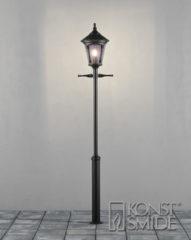 Konstsmide Staande Buitenlamp 'Virgo' 255cm hoog, E27 max 100W / 230V, kleur Zwart