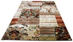 Designer Teppich Sevilla Klassik Beige Rost Patchwork Pergamon Beige
