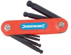 Silverline 7-delige metrische balkop inbussleutel 2,5 - 10 mm