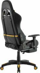 Clp Turbo LED Bureaustoel - Zwart/geel - Kunstleer