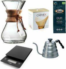 Chemex Coffeemaker slow coffee starter kit 8-Kops