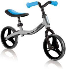 Blauwe Globber Go bike Loopfiets in Zilver
