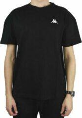 Kappa Veer T-Shirt 707389-19-4006, Mannen, Zwart, T-shirt, maat: L EU