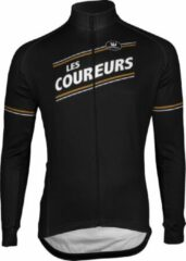 Bruine Vermarc Sports Fietsshirt Vermarc Les Coureurs Spl Trui Lm Lr - Maat: XL, Kleur: Zwart