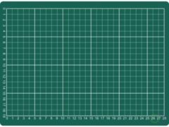 Bruna Snijmat Rillstab A4 300x220mm groen