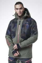 Blauwe Tenson - Heren Ski jas - Brant - Blue - Maat S