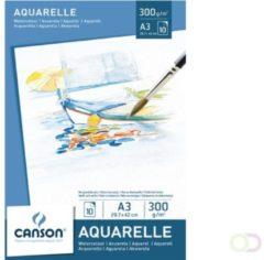 Bruna Aquarelblok Canson A3 300gr 10vel