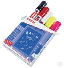 Rode Edding 4090/5 krijtmarker 5 assorti kleuren - krijtmarkers - raamstift - raamstiften - chalkmarker -– krijtstift – glasstift – schoolbordstift – krijtbordstift – stoepbordstift