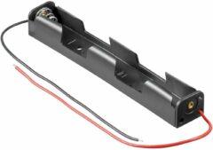 Goobay 11983 Batterijhouder 2x AA (penlite) Kabel (l x b x h) 109 x 16.6 x 14 mm