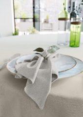 Mistral Home - set van 4 servetten - katoen polyester- linnenlook - 43x43 cm - grijs