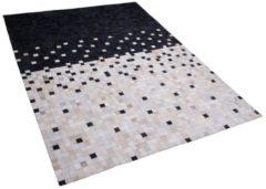 Beliani Vloerkleed zwart/beige 160 x 230 cm ERFELEK