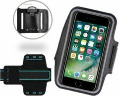 Sport / Hardloop Armband Universeel Spatwaterdicht Hoesje – Zwart Sportband – voor Apple iPhone 7 / 6/6s / 5/5C/5SE en Samsung Galaxy J1 (2016) - Hardloop 4.7 inch Sport Armband Met Sleutelhouder (Samsung, Huawei, LG, HTC, Sony)