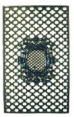 Groene Nostalux Deurrooster H:108 x B:68 Medaillon R 459 B