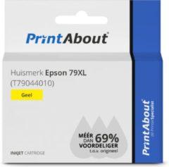 PrintAbout Huismerk Epson 79XL (T79044010) Inktcartridge Geel Hoge capaciteit
