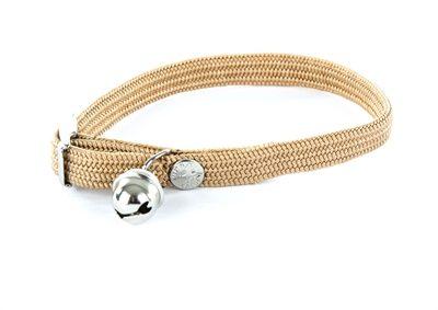 Afbeelding van Martin sellier Halsband voor kat elastisch nylon beige 30x1 cm