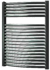 Douche Concurrent Designradiator Plieger Onda 76,4x58.5cm 528 Watt Zwart Zijaansluiting