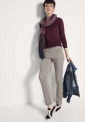 Hessnatur Damen Hose Slim Fit aus Bio-Baumwolle – grau – Größe 34