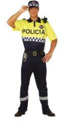 Gele Guirca Politie & Detective Kostuum | Beste Kameraad Politie | Man | Maat 48-50 | Carnaval kostuum | Verkleedkleding