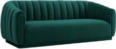 Richmond Interiors Richmond Bank 'Lorena' 3-zits, velvet, kleur Groen