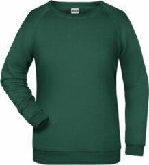 James & Nicholson James And Nicholson Dames/dames Basic Sweatshirt (Donkergroen)