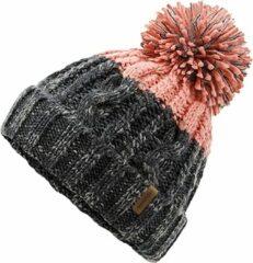 Siberia Muts Grijs Roze - Roze / Grijze Beanie - Wakefield Headwear - Mutsen