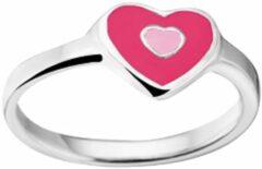 Paarse TFT Ring Hart Zilver Gerhodineerd