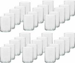 Transparante Trend Candles 30x Hoge theelichthouders/waxinelichthouders van glas 5,5 x 6,5 cm - Glazen kaarsenhouders - Woondecoraties