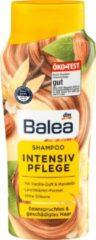 DM Balea Shampoo intensieve verzorging - Verwend gestrest en beschadigd haar - Met vanille geur & amandelolie - Zonder siliconen (300 ml)