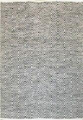 Licht-grijze KILAMY - Katoenen vloerkleed - 160x230cm - Grijs