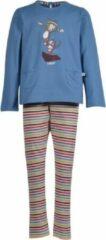Woody Meisjes-Dames pyjama - Kat - Blauw - 202-1-BSL-S/845 - 2j