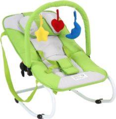 Groene Merkloos / Sans marque Wipstoeltje - kinderstoel - babyschommelstoeltje - green