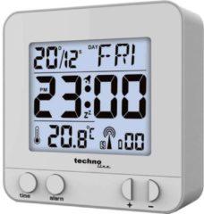 Techno Line WT235 si Wekker Zendergestuurd Zilver Alarmtijden: 1