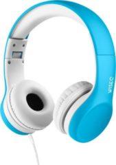 WISEQ Junior – Bedrade koptelefoon kind - Kinderkoptelefoon met snoer voor jonge kinderen tot 11 jaar oud - blauw