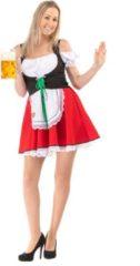 Original Replicas Boeren Tirol & Oktoberfest Kostuum | Korte Rode Sexy Beierse Mabel Dirndl Oktoberfest Bier Tirol | Vrouw | 3XL | Bierfeest | Verkleedkleding