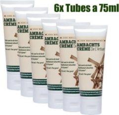 Ambachtscreme tubes 6x 75ml, VOORDEELPACK