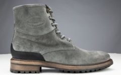 Grijze Heren veterschoen PME Legend High boot suede PBO196033 - Maat 44